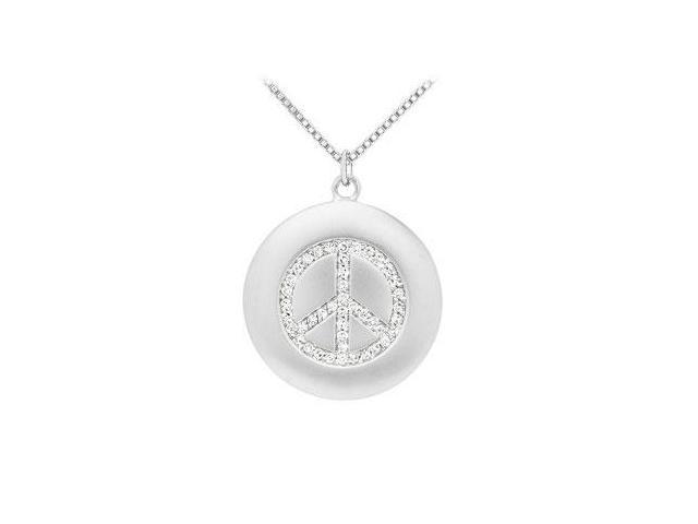Diamond Peace Pendant  14K White Gold - 0.33 CT Diamonds
