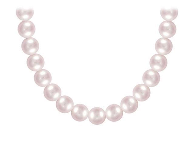 Freshwater Cultured Pearl Necklace  14K White Gold  8 MM
