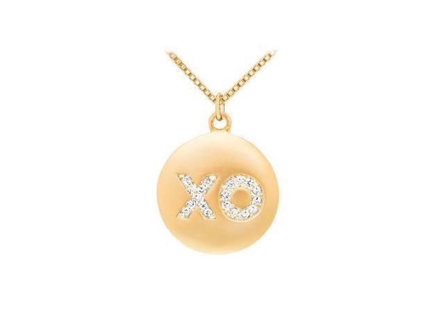 Diamond X-O Pendant  14K Yellow Gold - 0.25 CT Diamonds