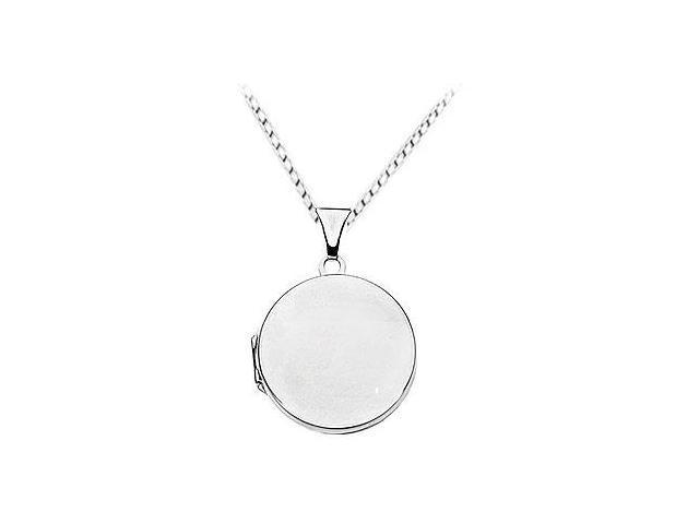 Plain Round Locket Pendant  .925 Sterling Silver - 23.56 X 21.45 MM