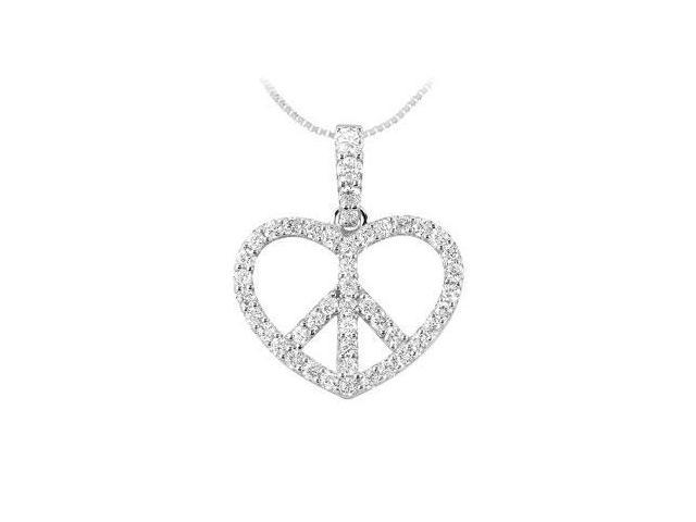 Diamond Heart Pendant  14K White Gold - 0.66 CT Diamonds