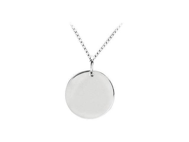 Circle Shaped Charm Pendant  .925 Sterling Silver - 20.27 X 20.27 MM