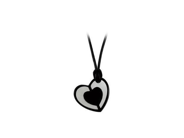 Sterling Silver Youth Heart with Mother of Pearl 16 Inch Necklace 23.75X25.15 MM