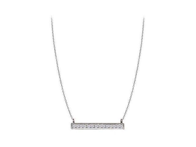 Quarter Carat Prong Set CZ Necklace in Silver