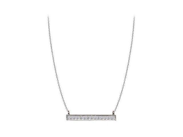Quarter Carat Prong Set CZ Necklace in Silver