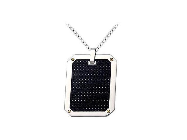 Stainless Steel with Carbon Fiber Pendant