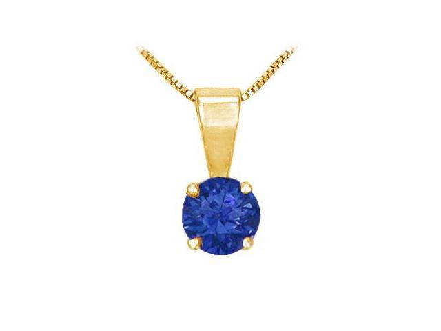 Sapphire Solitaire Pendant  14K Yellow Gold - 1.00 CT TGW