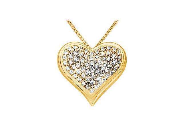 Diamond Heart Pendant  14K Yellow Gold - 1.25 CT Diamonds
