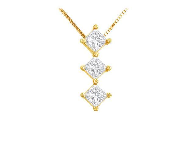 Princess Diamond Pendant  14K Yellow Gold - 0.25 CT Diamonds