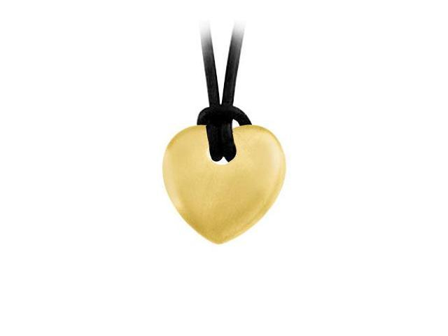 14K Yellow Gold Heart Shape Pendant
