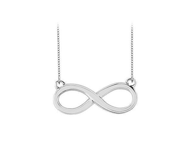 Infinity Pendant Necklace in White Gold 14K