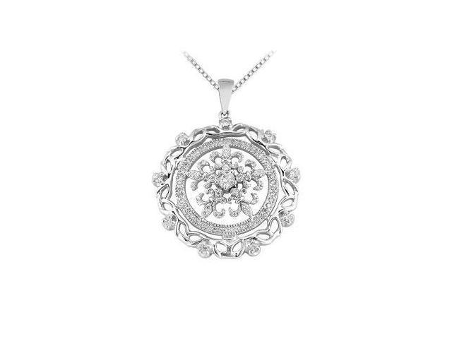 Diamond Circle Pendant  14K White Gold - 0.66 CT Diamonds