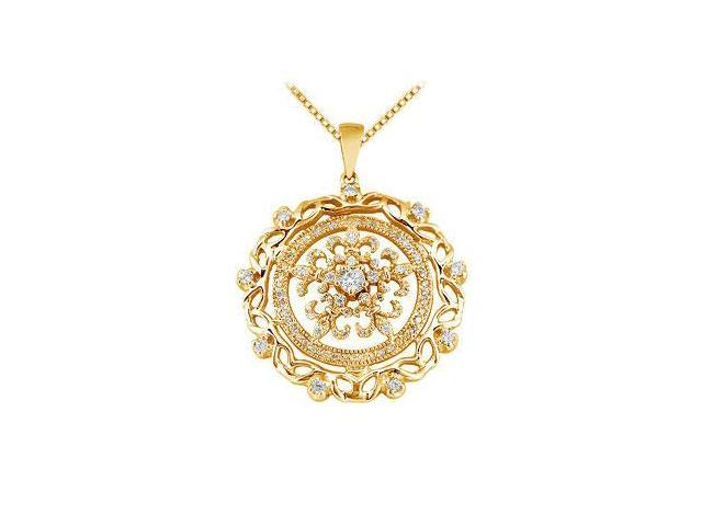 Diamond Circle Pendant  14K Yellow Gold - 0.66 CT Diamonds
