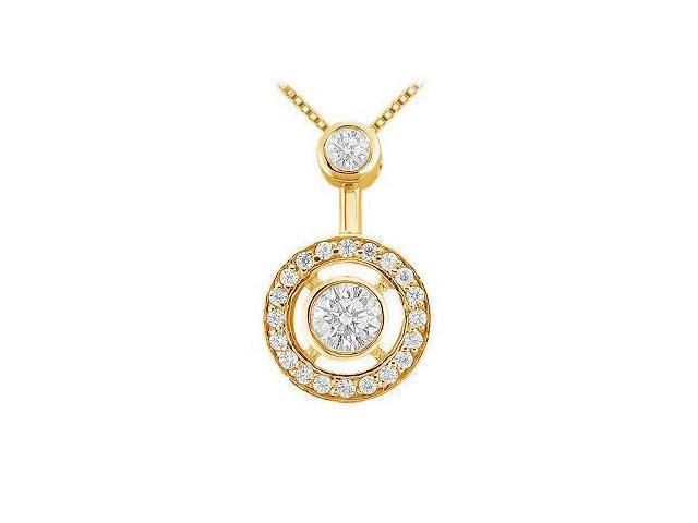 Diamond Circle Pendant  14K Yellow Gold - 0.33 CT Diamonds