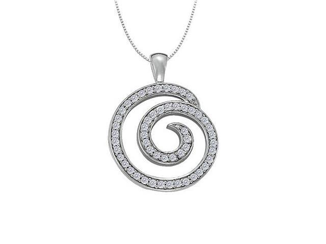 Diamond Circle Fashion Pendant in 14K White Gold 0.50 CT TDWJewelry Gift for Women