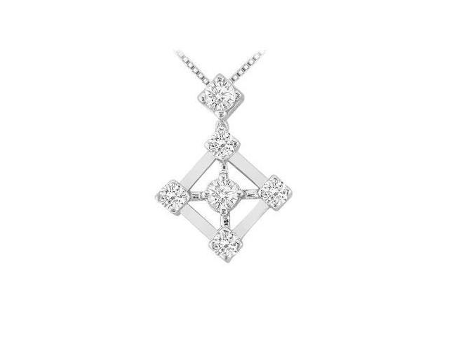 Diamond Pendant  14K White Gold - 0.40 CT Diamonds
