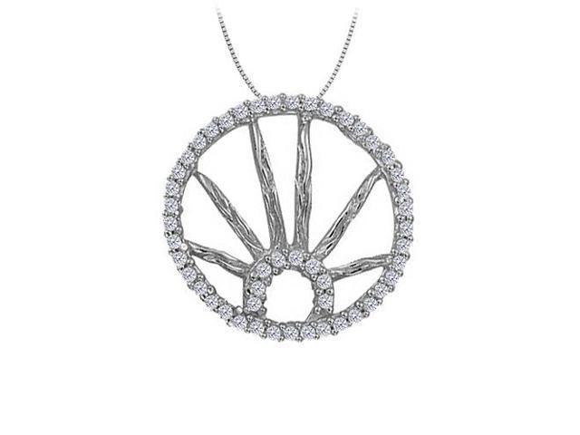 Diamond Circle Fashion Pendant in 14K White Gold 0.25 CT TDWJewelry Gift for Women