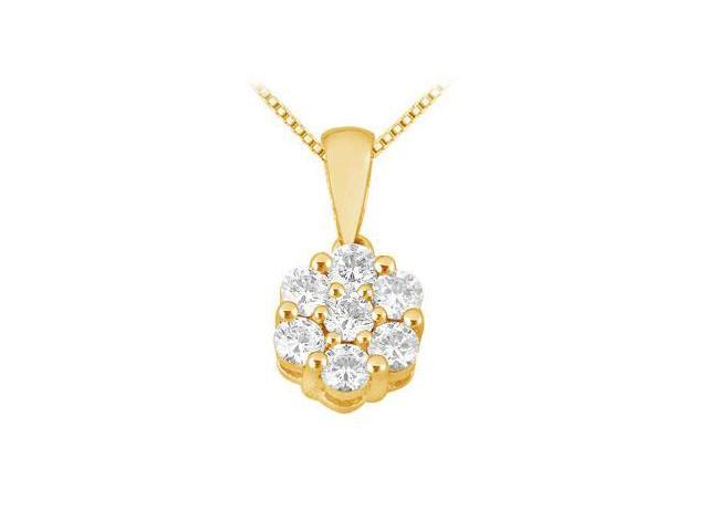 Diamond Flower Pendant  14K Yellow Gold - 0.25 CT Diamonds