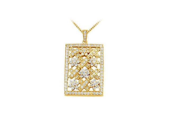 Diamond Pendant  14K Yellow Gold - 1.50 CT Diamonds