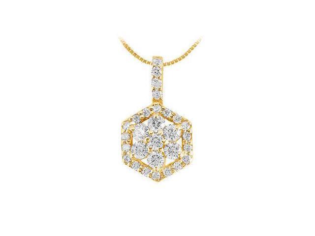Diamond Pendant  14K Yellow Gold - 0.66 CT Diamonds