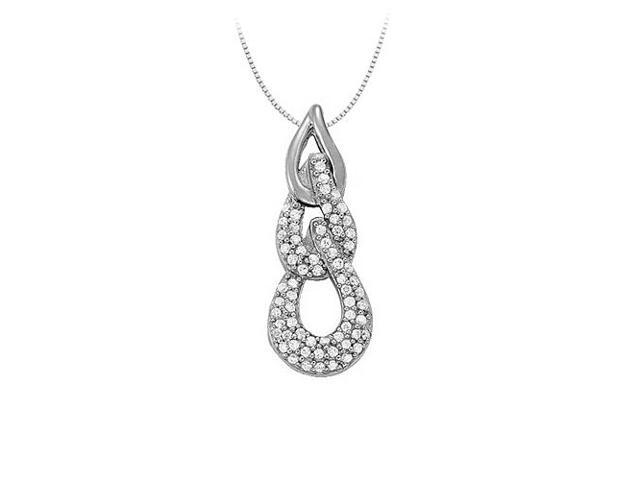 Cubic Zirconia Fashion Pendant in Sterling Silver 0.33 CT TGWJewelry Gift for Women