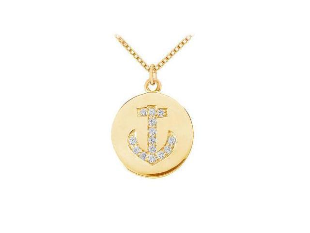 Diamond Disc Pendant  14K Yellow Gold - 0.15 CT Diamonds