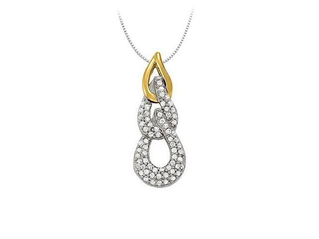 Diamond Fashion Pendant in Two Tone 14K Gold 0.33 CT TDWJewelry Gift for Women