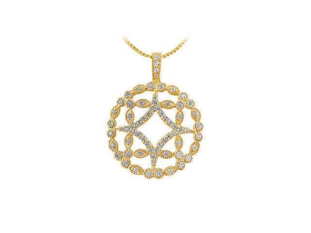 Diamond Floral Pendant  14K Yellow Gold - 0.66 CT Diamonds
