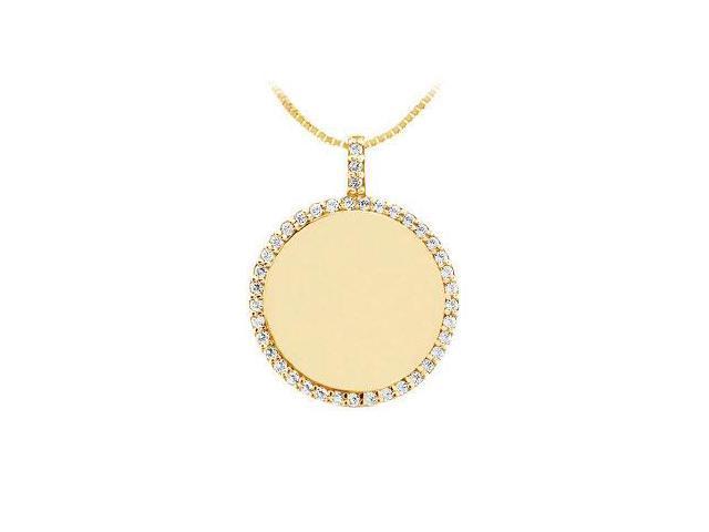 Diamond Disc Pendant  14K Yellow Gold - 0.25 CT Diamonds