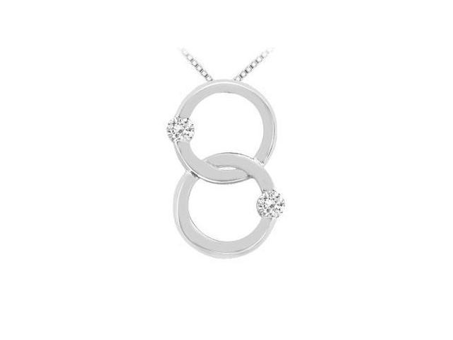 Diamond Circle Pendant  14K White Gold - 0.30 CT Diamonds
