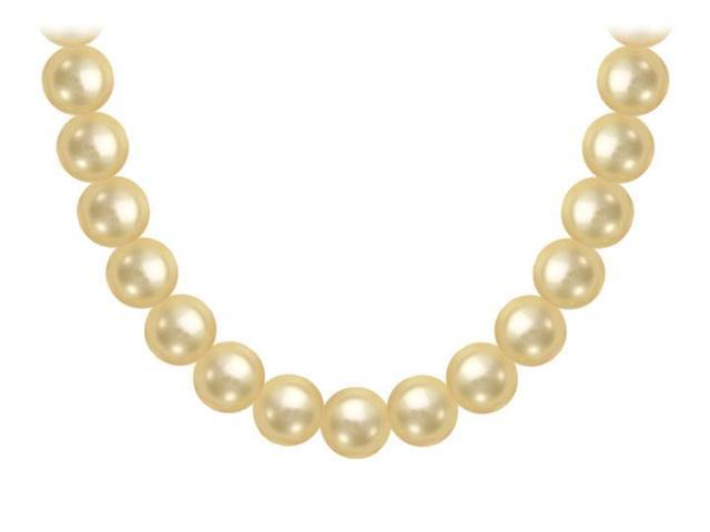 South Sea Pearl Necklace  18K Yellow Gold  10.00 - 12.00 MM