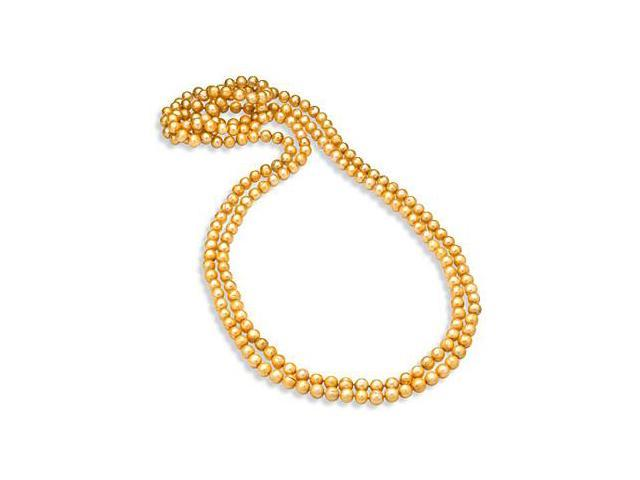 Cultured Freshwater Pearl Champagne 80 Inches Strand Necklace 8.5MM