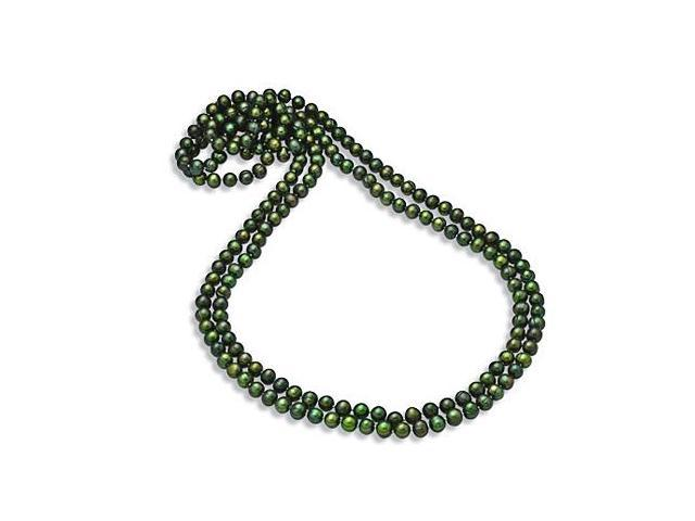 8.5MM Round Green Freshwater Cultured Pearl Strand Necklace 80 Inches
