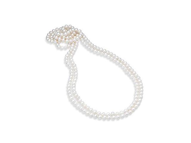 Freshwater Cultured White Pearl 80 Inches Strand Necklace 8.5MM