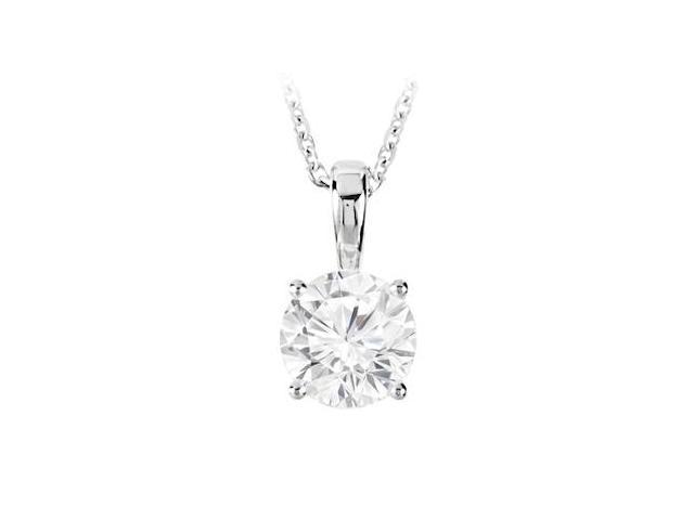 April Birthstone Cubic Zirconia Pendant in 925 Sterling Silver 5.00 CT TGW