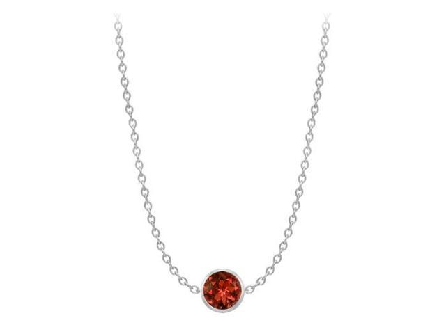 1 ct garnet by the yard necklace in white gold 14k 36 inch double up cable chain