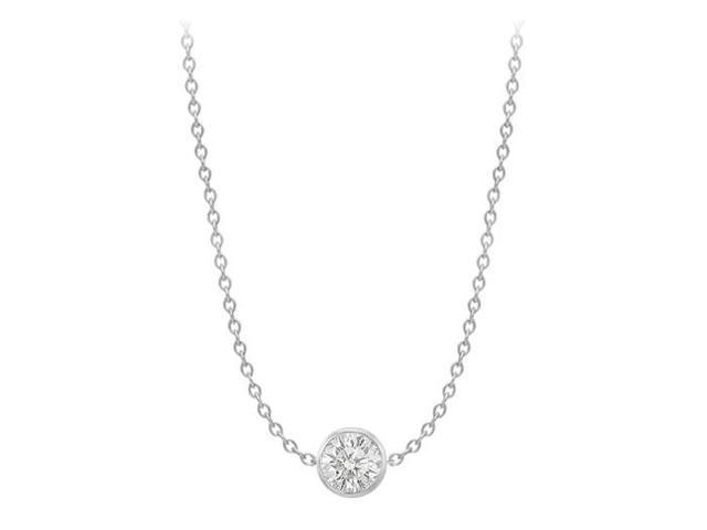 Cubic Zirconia by the Yard Necklace in 14K White Gold Two carat TGW Double Up Chain