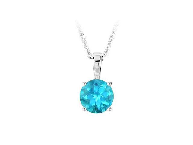 November Birthstone Created Blue Topaz Pendant in 925 Sterling Silver 1.00 CT TGW