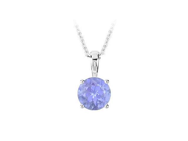 December Birthstone Created Tanzanite Pendant in 925 Sterling Silver 1.00 CT TGW