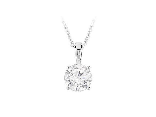 September Birthstone Created White Sapphire Pendant in 925 Sterling Silver 1.00 CT TGW