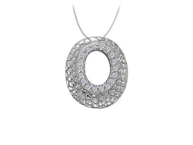 Cubic Zirconia Oval Fashion Pendant in Sterling Silver 0.25 CT TGWJewelry Gift for Women