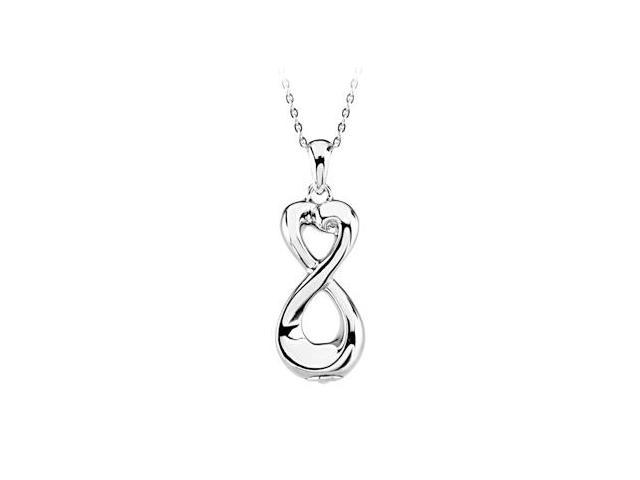 Tiffany inspired Infinity Love Ash Holder Pendant in Sterling Silver with fine silver chain