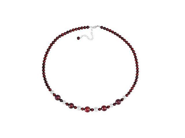 Sterling Silver and Freshwater Cultured Pearl 18 Inch Necklace