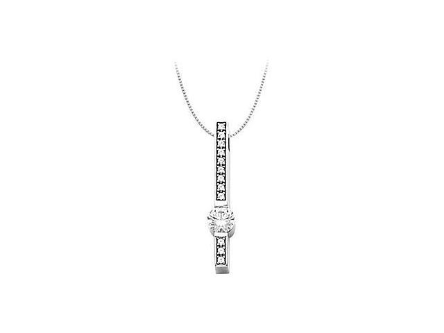 Cubic Zirconia Fashion Pendant in 14kt White Gold 0.75.ct.tw