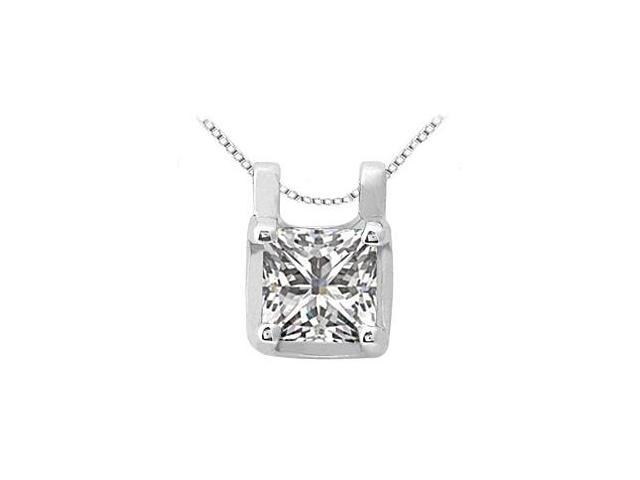 April Birthstone Cubic Zirconia Pendant in Sterling Silver 0.15 CT TGW