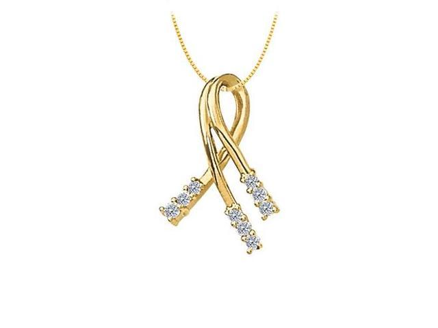 CZ Fashion Pendant Yellow Gold Vermeil over Sterling Silver 0.33 CT TGWJewelry Gift for Women