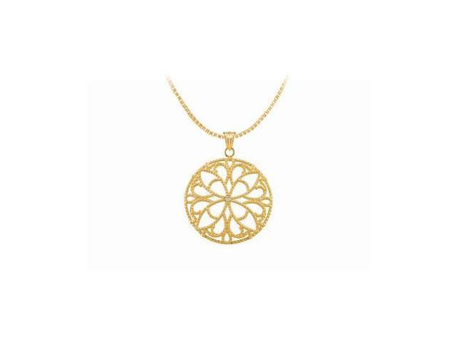 Diamond Pendant  14K Yellow Gold - 0.005 CT Diamond