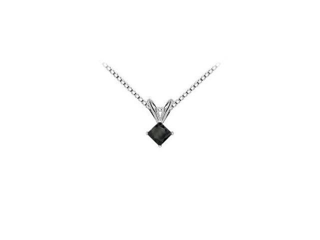 14K White Gold  Princess Cut Diamond Solitaire Pendant - 0.50 CT. TW.