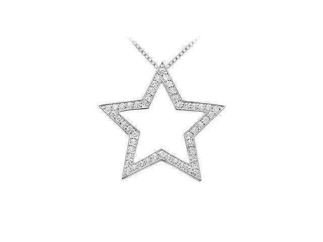 Diamond Star Pendant  14K White Gold - 0.33 CT Diamonds