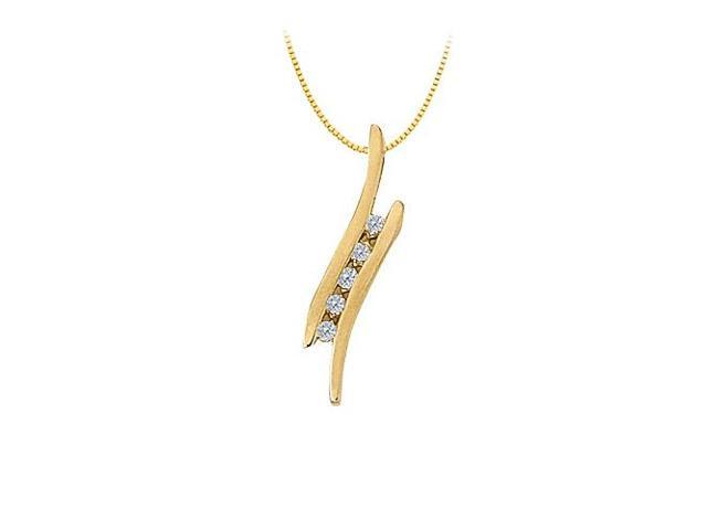 Cubic Zirconia Channel Set Pendant in Gold Vermeil over Sterling Silver 0.25 CT TGW